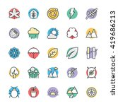 nature cool vector icons 2 | Shutterstock .eps vector #419686213