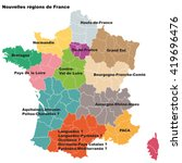 new french regions. nouvelles... | Shutterstock .eps vector #419696476