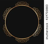 round lace border frame... | Shutterstock .eps vector #419703883