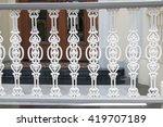 balcony vintage | Shutterstock . vector #419707189