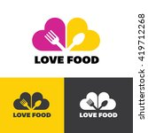 food logo. love food logo. food ... | Shutterstock .eps vector #419712268
