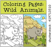 coloring pages  wild animals.... | Shutterstock .eps vector #419713510