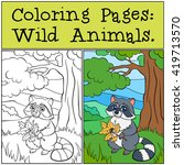 coloring pages  wild animals.... | Shutterstock .eps vector #419713570