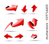 collection of different 3d red... | Shutterstock .eps vector #419716603