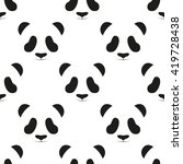 panda head seamless pattern | Shutterstock . vector #419728438