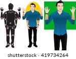 hanson young man cartoon... | Shutterstock .eps vector #419734264
