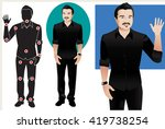 for animation. man character in ... | Shutterstock .eps vector #419738254