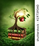 tree of knowledge and forbidden ... | Shutterstock . vector #419739340