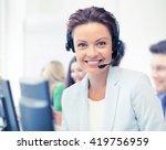 business and call center... | Shutterstock . vector #419756959