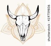 Animal Skull  Hand Drawing ...