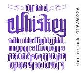 modern gothic style whiskey... | Shutterstock .eps vector #419760226