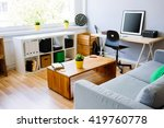 modern room  home office... | Shutterstock . vector #419760778