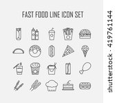set of line icons with fast... | Shutterstock .eps vector #419761144