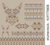 vector set of decorative... | Shutterstock .eps vector #419775808