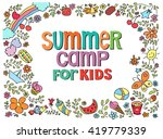 doodle summer vector... | Shutterstock .eps vector #419779339