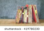 messy file folders and... | Shutterstock . vector #419780230