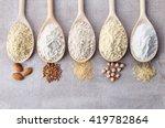 wooden spoons of various gluten ... | Shutterstock . vector #419782864
