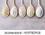 wooden spoons of various gluten ...   Shutterstock . vector #419782918