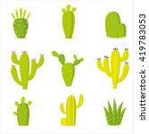 cactus collection in vector... | Shutterstock .eps vector #419783053