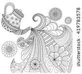 Line Art Design Of Teapot...