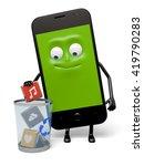 the smartphone uninstall program | Shutterstock . vector #419790283