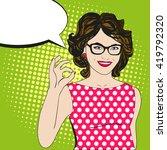 pop art woman says okay. comics