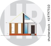 house remodel   Shutterstock .eps vector #419797510