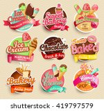 food label or sticker   bakery  ... | Shutterstock .eps vector #419797579