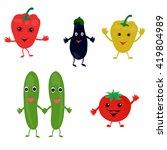 vegetables on a white background | Shutterstock .eps vector #419804989