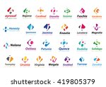 logo collection  letters... | Shutterstock .eps vector #419805379