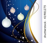 blue background with christmas... | Shutterstock .eps vector #41981275