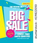 bright vector sale banner | Shutterstock .eps vector #419822050