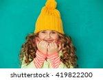 Cute Little Lady Wearing Yello...