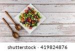 green salad | Shutterstock . vector #419824876