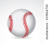 baseball icon isolated on white ... | Shutterstock . vector #419826733