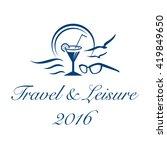 logo for travel  leisure or...   Shutterstock .eps vector #419849650