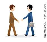 two businessmen shake hands....   Shutterstock .eps vector #419851204