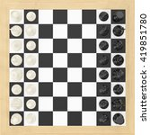 set of chess figures on square... | Shutterstock . vector #419851780