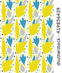 seamless art pattern with leaf... | Shutterstock .eps vector #419856439