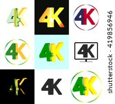 collection icons and logos 4k ...
