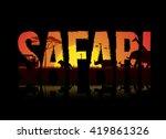 vector illustration of safari... | Shutterstock .eps vector #419861326