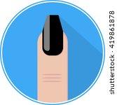 nail icon vector flat sign app...