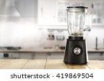 kitchen interior dark blender... | Shutterstock . vector #419869504