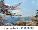 sakura with mount fuji in... | Shutterstock . vector #419870080