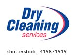 dry cleaning service logo... | Shutterstock .eps vector #419871919