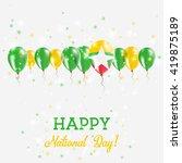 myanmar independence day... | Shutterstock .eps vector #419875189
