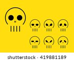 simple skulls with different... | Shutterstock .eps vector #419881189