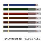 vector set of cosmetic pencil | Shutterstock .eps vector #419887168