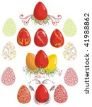 easter eggs   Shutterstock . vector #41988862