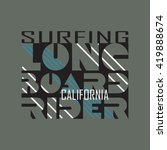 surfing t shirt graphic design. ... | Shutterstock . vector #419888674